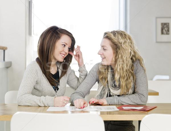 two girls reading Stock photo © gemenacom