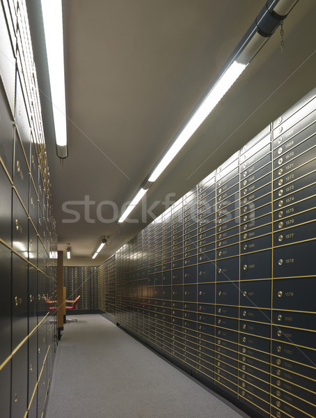 Rows of luxurious safe deposit boxes Stock photo © gemenacom