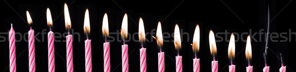 Birthday Candle Time Lapse Stock photo © gemenacom