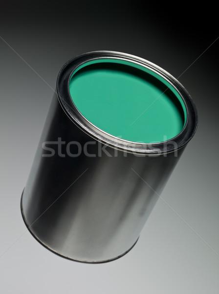 Zöld festékes flakon festmény fehér folyadék makró Stock fotó © gemenacom