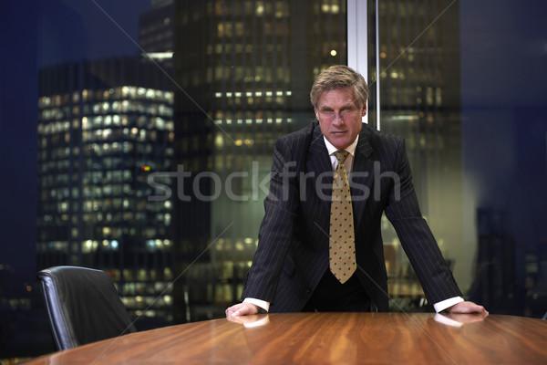 Photo stock: Homme · d'affaires · supérieurs · affaires · boardroom · table
