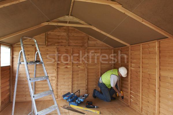 Budowniczy pracy budowy moc narzędzia Zdjęcia stock © gemphoto