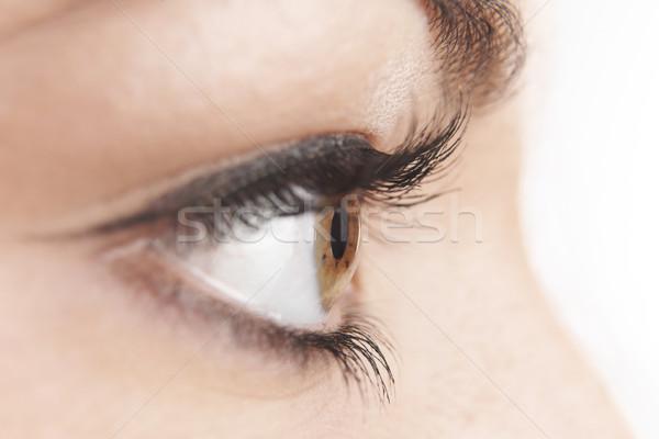 Yeux brun oeil faux beauté Photo stock © gemphoto