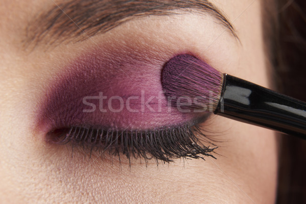глазах женщину щетка белый Сток-фото © gemphoto