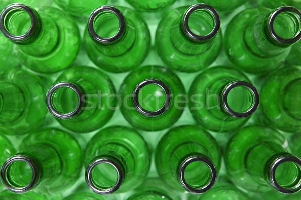 Photo stock: Vert · bouteilles · vue · vide · verre