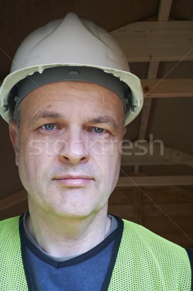 Constructeur portrait maturité Homme Photo stock © gemphoto