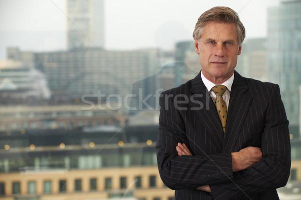 Homme d'affaires portrait supérieurs exécutif fenêtre souriant Photo stock © gemphoto