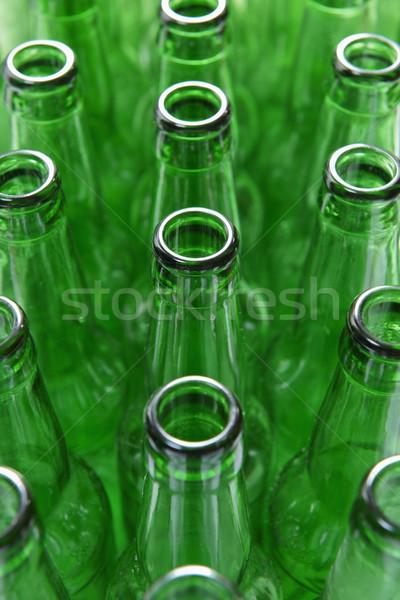 Vert bouteilles vue vide verre Photo stock © gemphoto