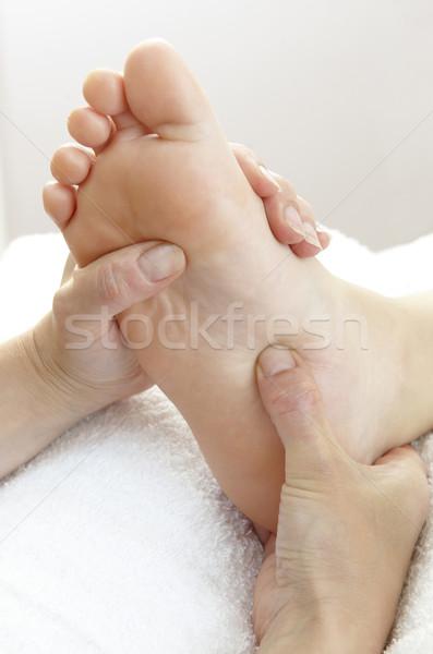 Сток-фото: ногу · массаж · пару · рук · большой · палец · руки
