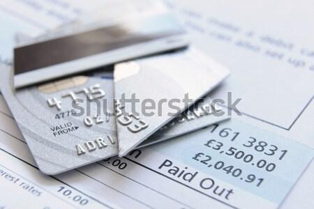 Gesneden omhoog creditcard kaart nummers krediet Stockfoto © gemphoto