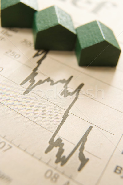 Graphique maisons papier bois affaires argent Photo stock © gemphoto