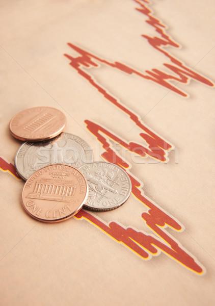 монетами графа бумаги американский пространстве скопировать Сток-фото © gemphoto