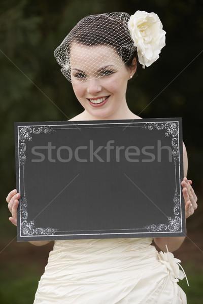 花嫁 ボード かなり ウェディングドレス スペース ストックフォト © gemphoto