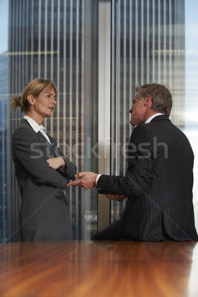 Zakenlieden senior zakenman vrouw boardroom man Stockfoto © gemphoto
