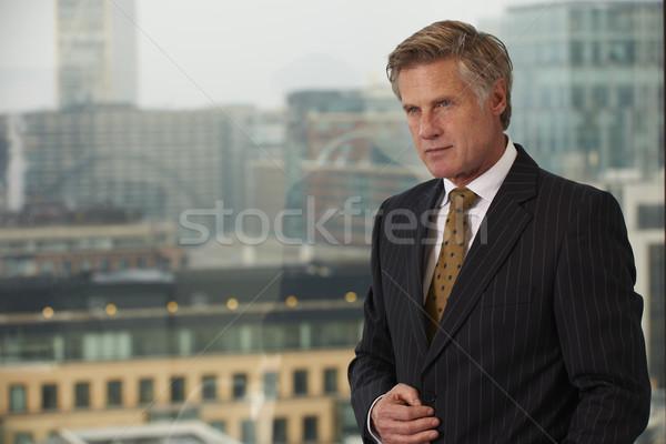 Photo stock: Homme · d'affaires · portrait · supérieurs · exécutif · fenêtre · regarder