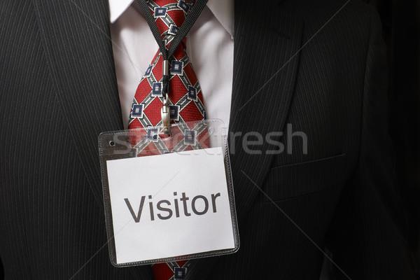 ビジター タグ ビジネスマン 着用 識別 バッジ ストックフォト © gemphoto