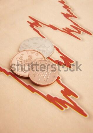 Pièces graphique papier euros espace copier Photo stock © gemphoto