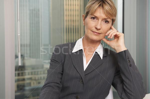 Femme d'affaires portrait supérieurs exécutif fenêtre souriant Photo stock © gemphoto