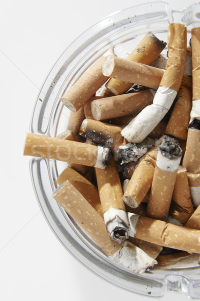 Photo stock: Cigarette · vue · verre · cendrier · plein · santé