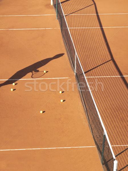 Court de tennis ombre net tennis Photo stock © gemphoto