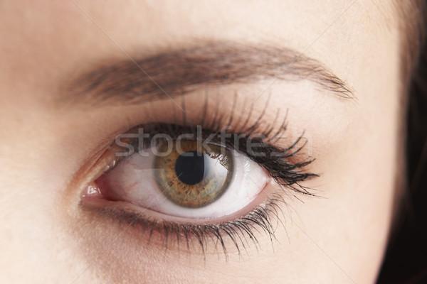 Yeux brun oeil faux visage Photo stock © gemphoto