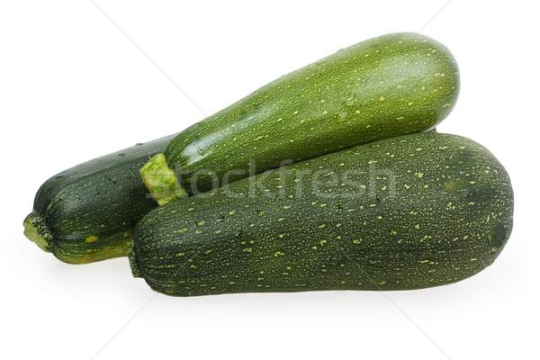 три зеленый цуккини изолированный белый продовольствие Сток-фото © GeniusKp