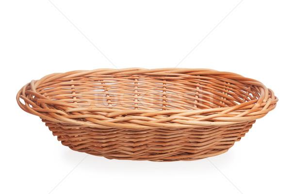 Faible osier panier isolé blanche texture Photo stock © GeniusKp