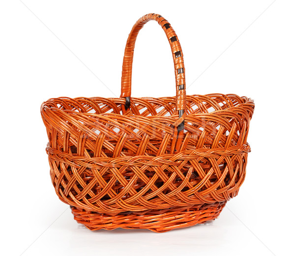 Empty wicker basket Stock photo © GeniusKp