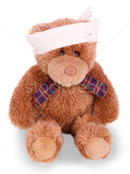 Teddy bear with bandaged head Stock photo © GeniusKp