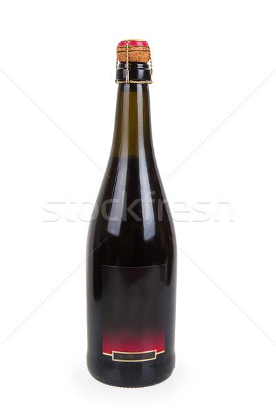 Gesloten fles rode wijn geïsoleerd witte wijn Stockfoto © GeniusKp