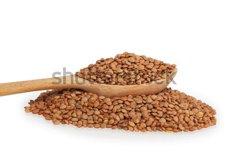 lentils in a wooden spoon Stock photo © GeniusKp
