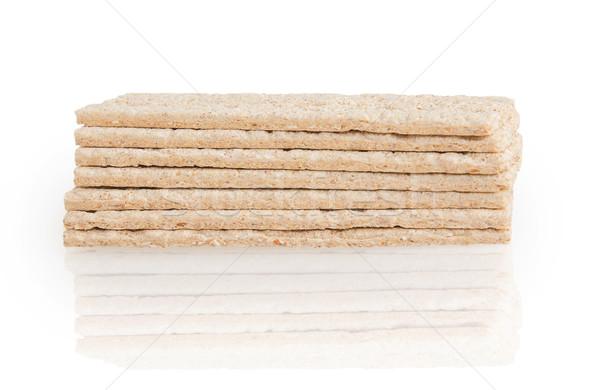 Diétás kenyér izolált fehér étel háttér Stock fotó © GeniusKp