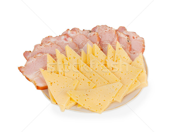 deli meats and cheese on a plate Stock photo © GeniusKp