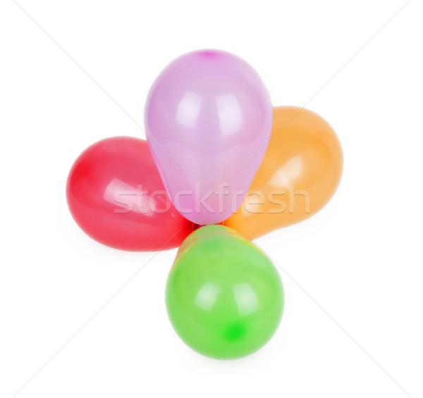 Balonlar yalıtılmış beyaz parti arka plan Stok fotoğraf © GeniusKp