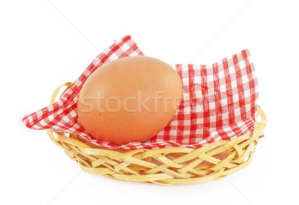 Uovo basket tovagliolo isolato Foto d'archivio © GeniusKp