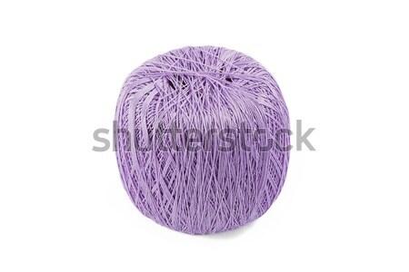 Bal garen geïsoleerd witte textuur achtergrond Stockfoto © GeniusKp