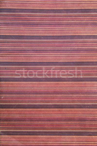 Pembe çizgili bez moda tablo kumaş Stok fotoğraf © GeniusKp