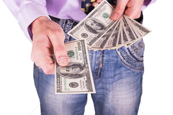 Man's hand reaching out money Stock photo © GeniusKp