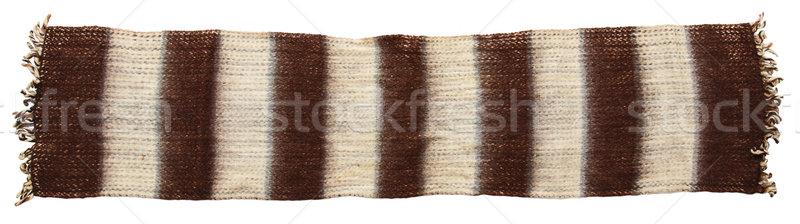 Warm gebreid sjaal geïsoleerd witte voorjaar Stockfoto © GeniusKp