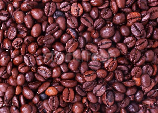 Chicchi di caffè texture natura sfondo ristorante nero Foto d'archivio © GeniusKp