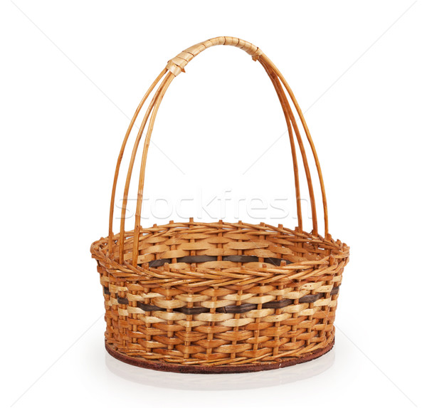 empty wicker basket Stock photo © GeniusKp