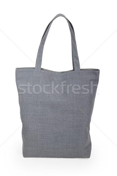 Grijs zak geïsoleerd witte achtergrond Stockfoto © GeniusKp