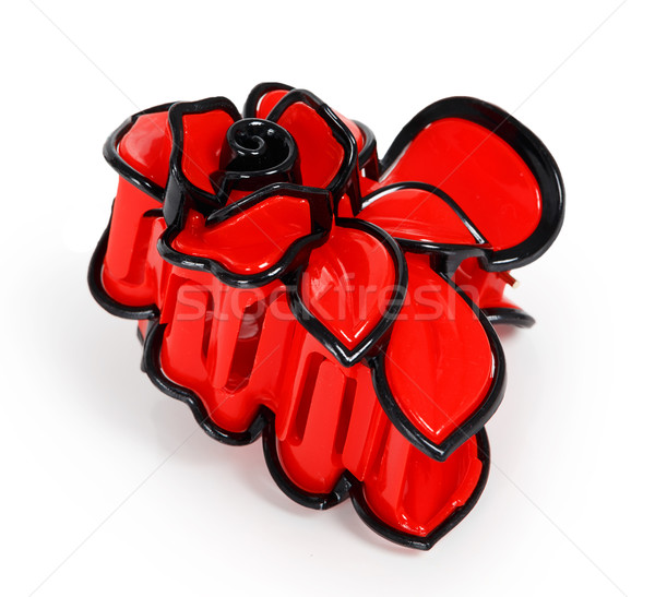 Red plastic hair clip Stock photo © GeniusKp