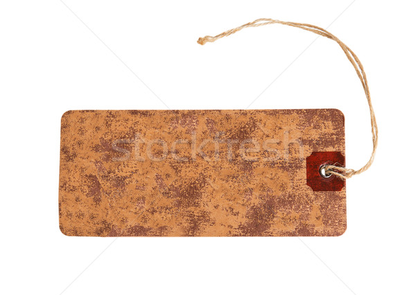 Carta marrone tag corda isolato bianco carta Foto d'archivio © GeniusKp