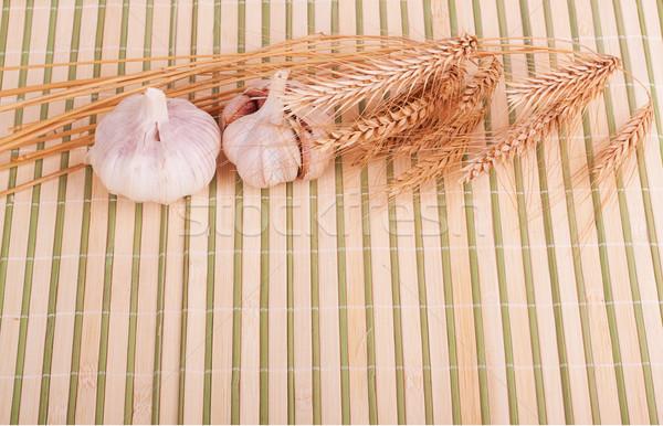 Alho trigo orelhas bambu comida natureza Foto stock © GeniusKp