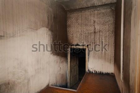 Assustador quarto branco paredes construção parede Foto stock © GeniusKp