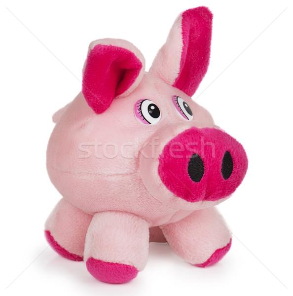 Soft pink toy pig Stock photo © GeniusKp