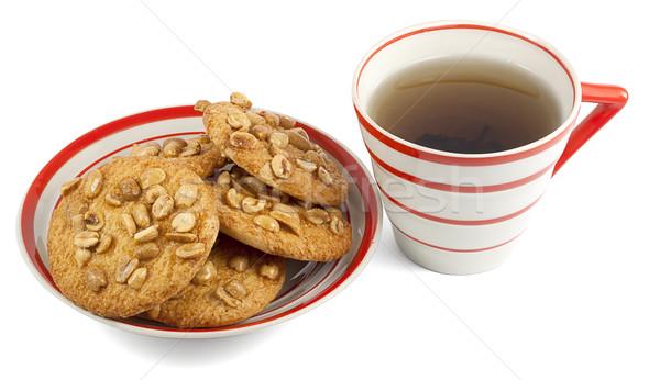 Chá bolinhos isolado branco cozinha financiar Foto stock © GeniusKp