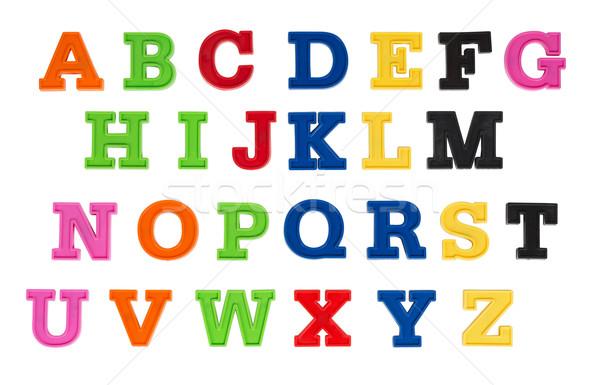 Foto d'archivio: Alfabeto · scritto · multicolore · plastica · ragazzi · lettere