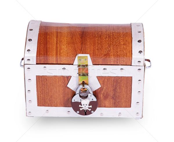Piraat borst geïsoleerd witte geld hout Stockfoto © GeniusKp